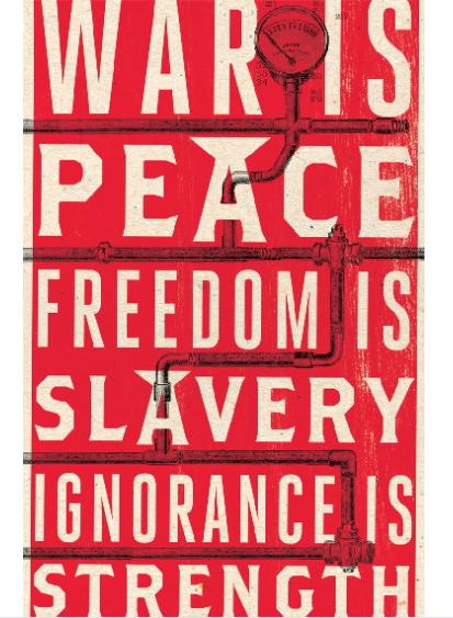 Le slogan de Big Brother dans le roman 1984